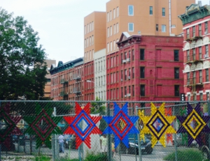 Fences have been beautified in Harlem