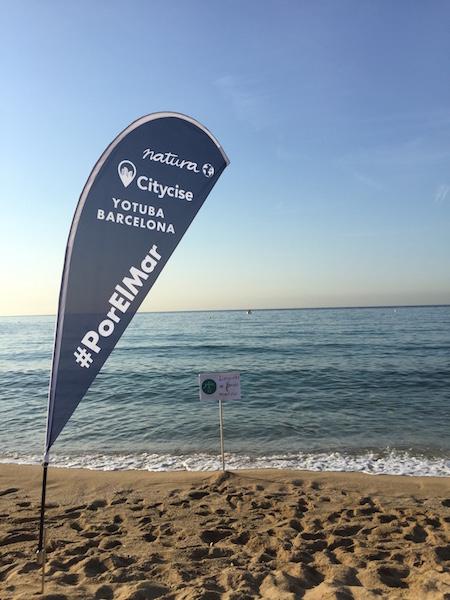 Limpieza del mar en Barcelona con Natura y Yotuba