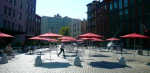 Winning back public space for the morning coffee