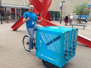 Pedal-powered mobile library