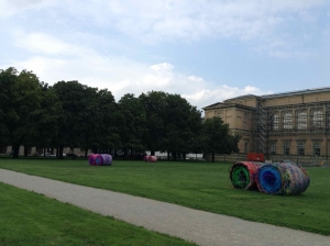 Something to play with in front of the Alte Pinakotek museum
