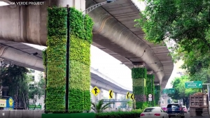 Mexico City's Vertical Gardens: Via Verde Project
