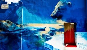 Street art en las calles para salvar el Ártico
