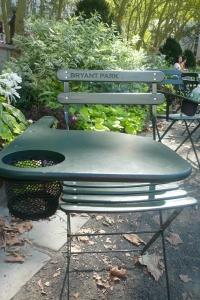 Ingenious public seating at Bryant Park