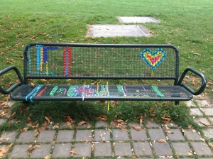 Transforming public seating in something colourful