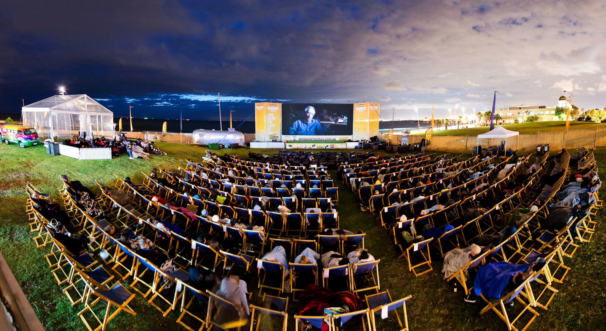 Open air cinemas with free ice cream by Ben&Jerrys