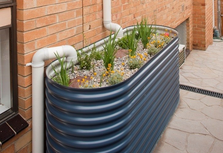 Creating water-saving gardens that capture stormwater after it rains