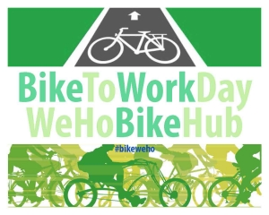 Bike to work day in West Hollywood