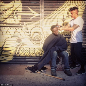 Haircuts for the homeless