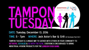 #TamponTuesday – Women helping women, one box at a time.