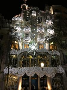 Nieve solidaria en la Casa Batlló