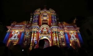 Illuminated churches in Quito
