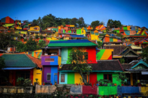 Colourful houses to attract tourists: rainbow village