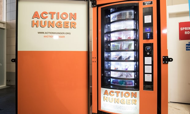 Vending machine for homeless
