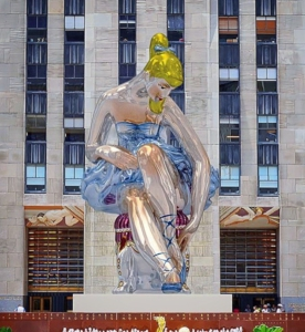 'Seated Ballerina' installation by Jeff Koons