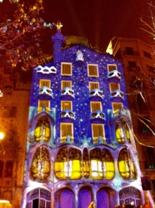 Light installation at Casa Batló