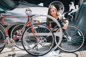 Attractive bike racks generate more interest in cycling