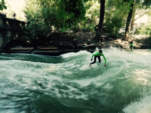 Surf a river in the middle of the city