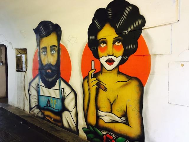 Graffiti Barbershop in Zagreb