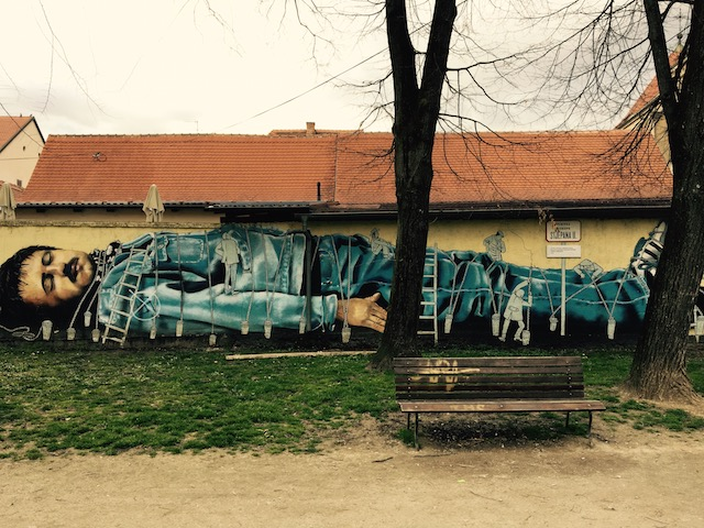Gulliver in Opatovina Park (Zagreb) by artists Boris Bare and Dominik Vuković