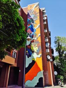 Street art in Schöneberg neighbourhood