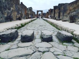 Crosswalks in the streets of Pompeii
