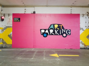 Art parking in creative neighbourhood in Porto