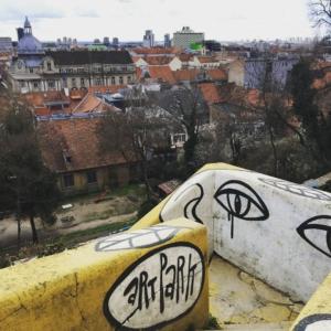 Art park, an open art gallery park in Zagreb