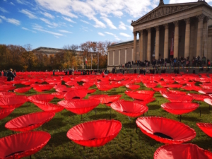 Art installation on main square to remember #Neveragain