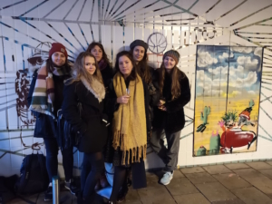 Street art by women to make an underpass more inviting