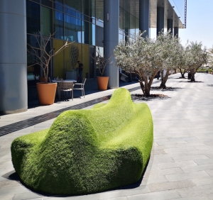 Public benches in Dubai connect citizens with nature