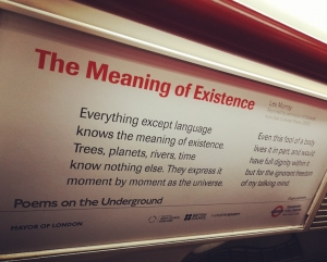 Poems on the Underground in London celebrate diversity