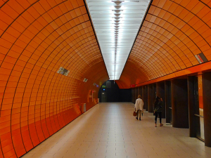 Colourful subway stations