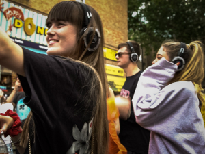 A silent Festival supports local talent at Portobello road