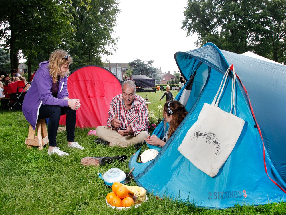 Camping-in-public-park